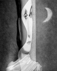 Metaportraits - Sandra di notte  /  © Franco Donaggio, all rights reserved