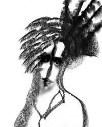 Metaportraits - ragazza con cappello  /  ©Franco Donaggio, all rights reserved