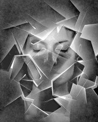 Metaportraits - viso con luce  /  ©Franco Donaggio, all rights reserved