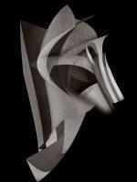 Sculptures - maschera da guerra  /  ©Franco Donaggio, all rights reserved